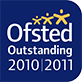 Ofsted Outstanding 2010 - 2011 Logo